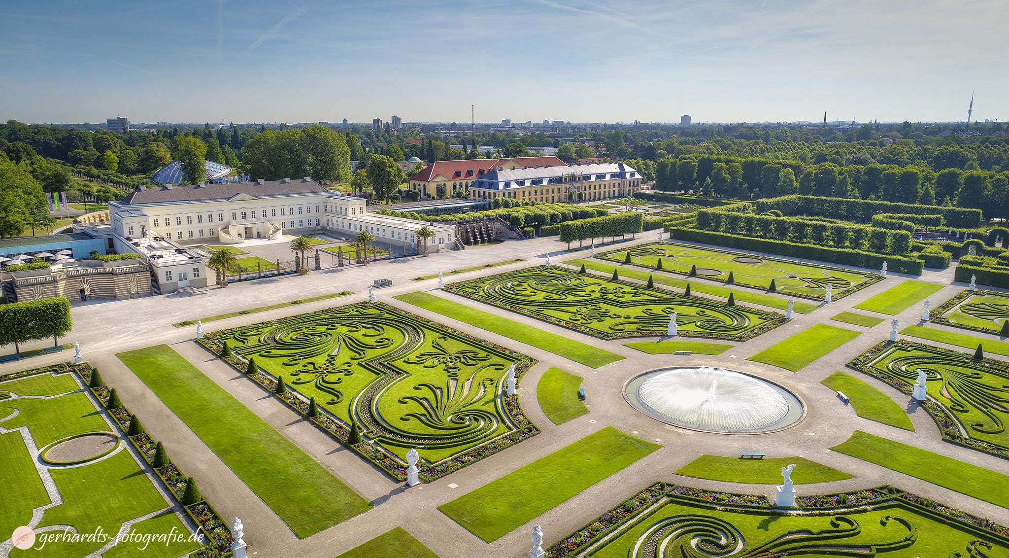 Luftbild Herrenhäuser Gärten Hannover Schloss Herrenhausen