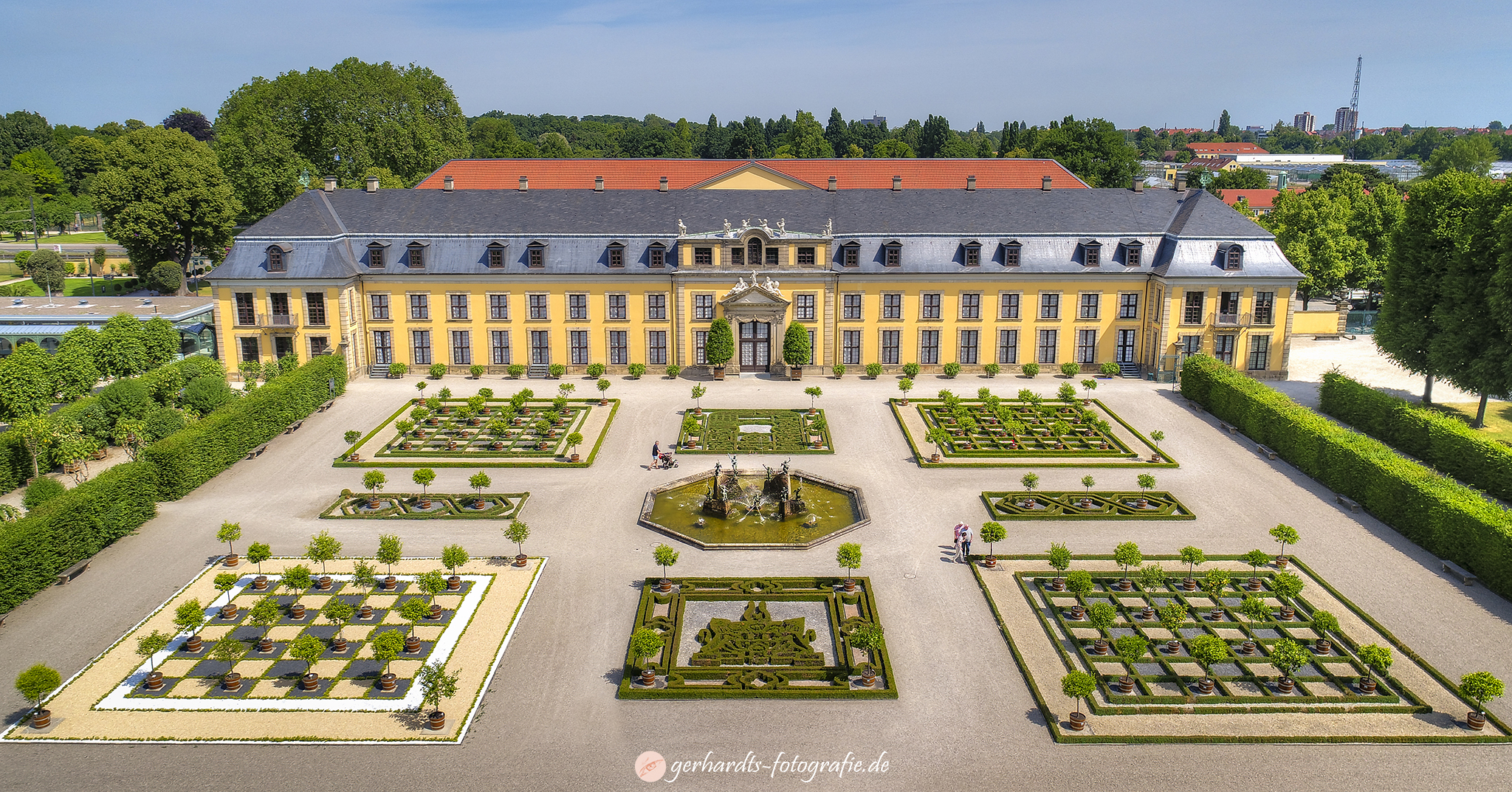 Luftbild Herrenhäuser Gärten Hannover Galerie