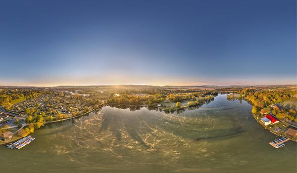 360 Grad Luftpanorama Foto Luftbild Kiessee Göttingen