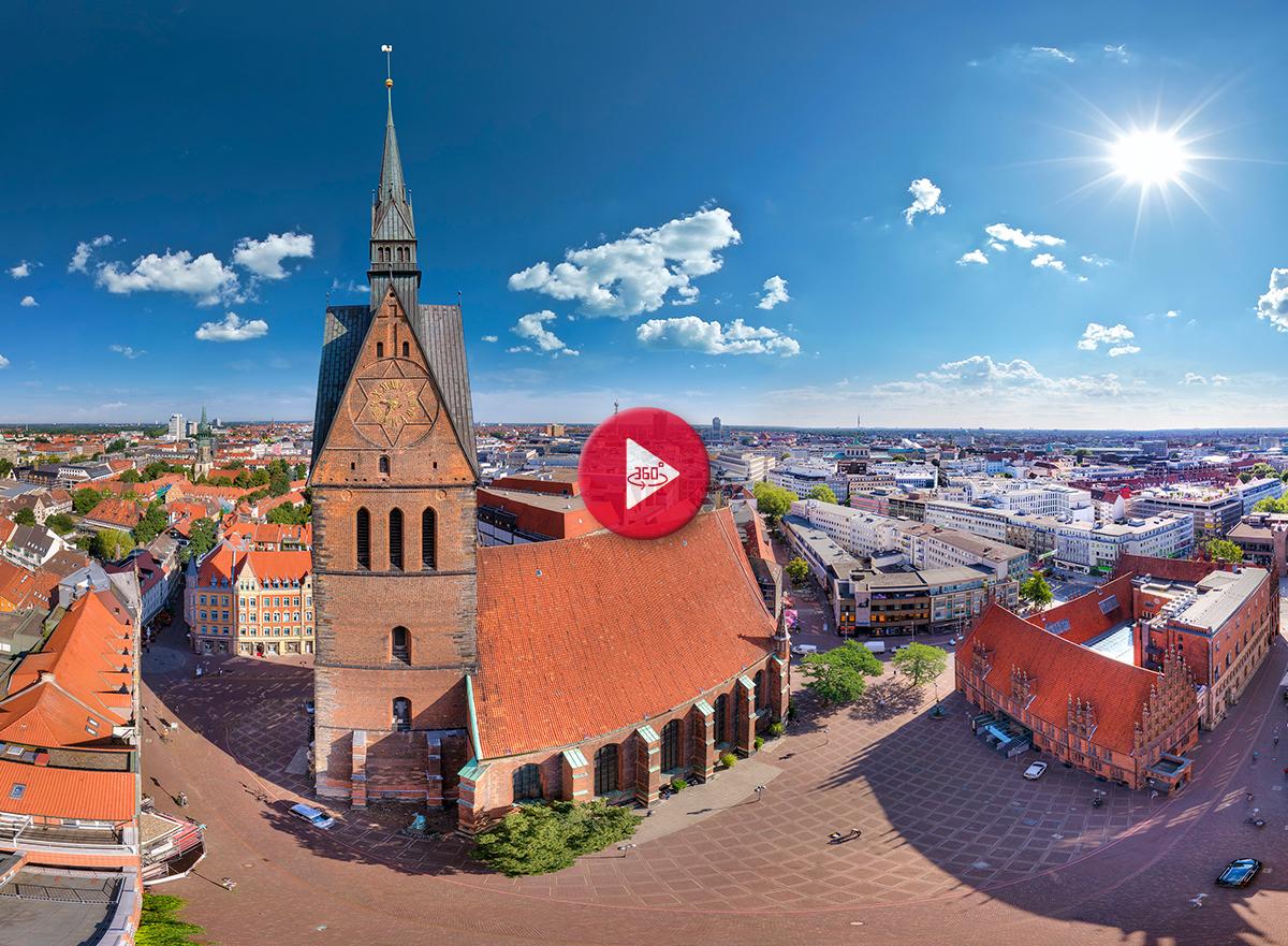 360 Grad Luftpanorama Foto Luftbild Hannover Marktkirche