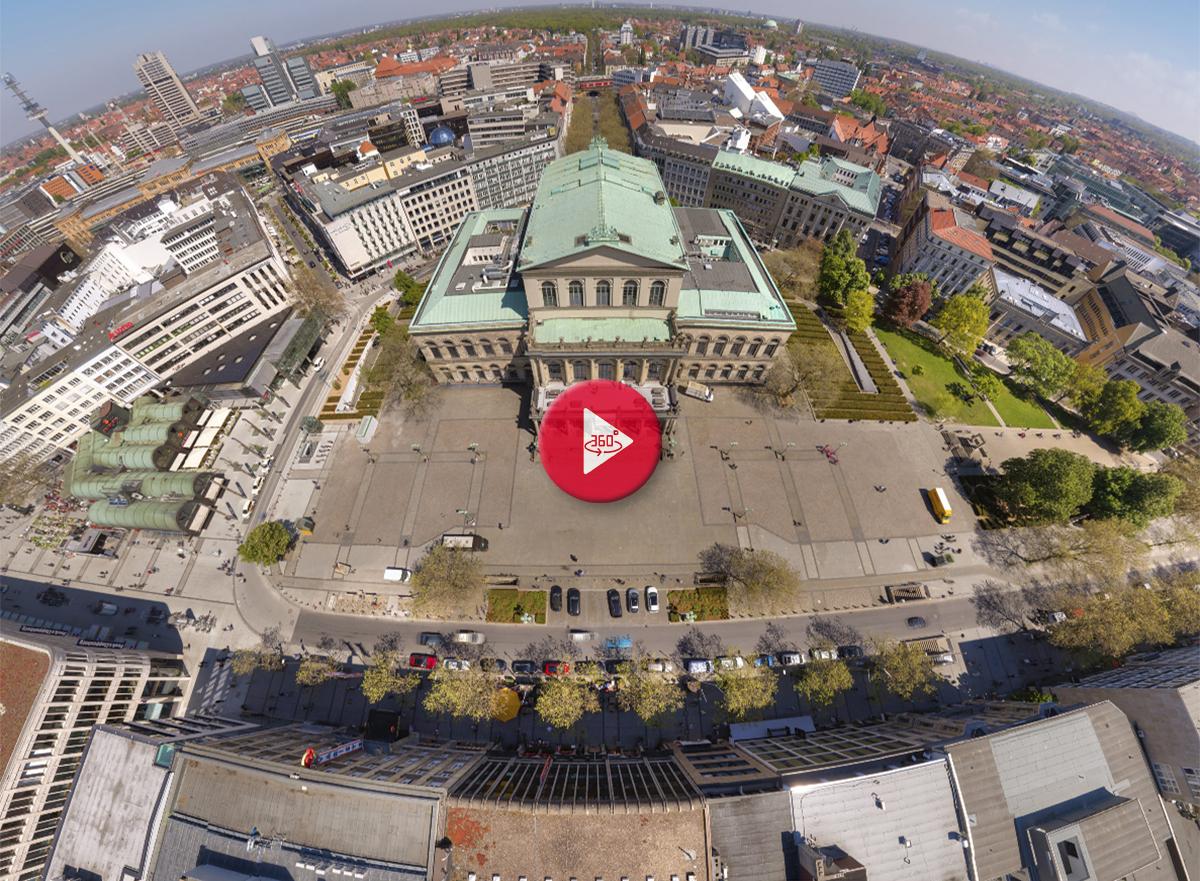 360 Grad Luftpanorama Fotos Luftbild Opernplatz Hannover
