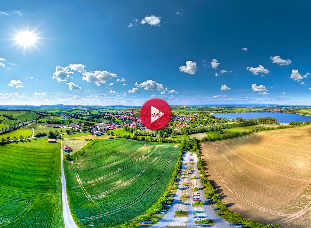 360 Grad Luftpanorama Foto Luftbild Seeburger See
