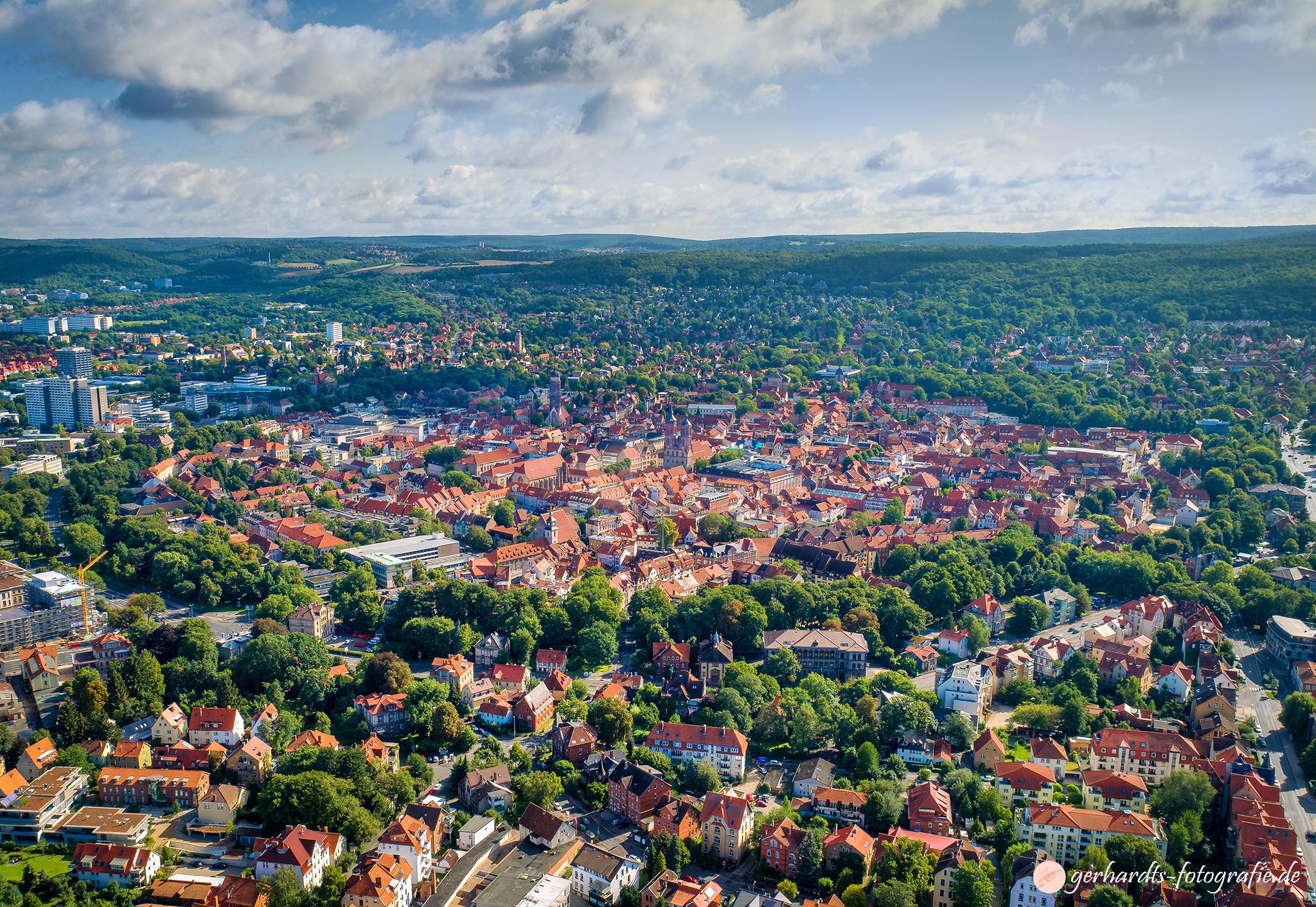 Luftaufnahme Göttingen Altstadt