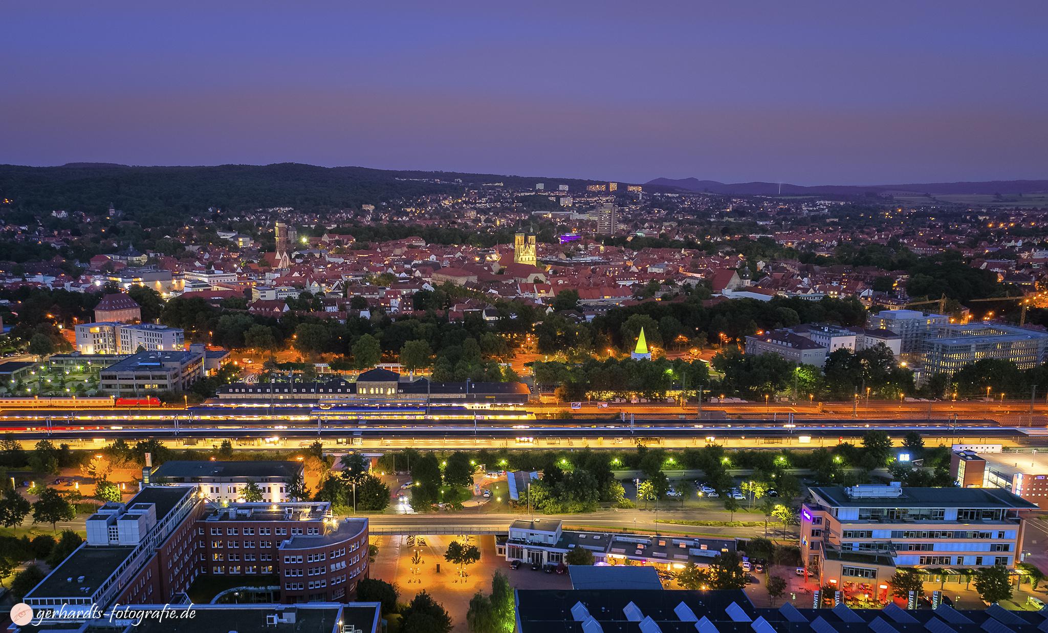 Luftaufnahme Göttingen bei Nacht