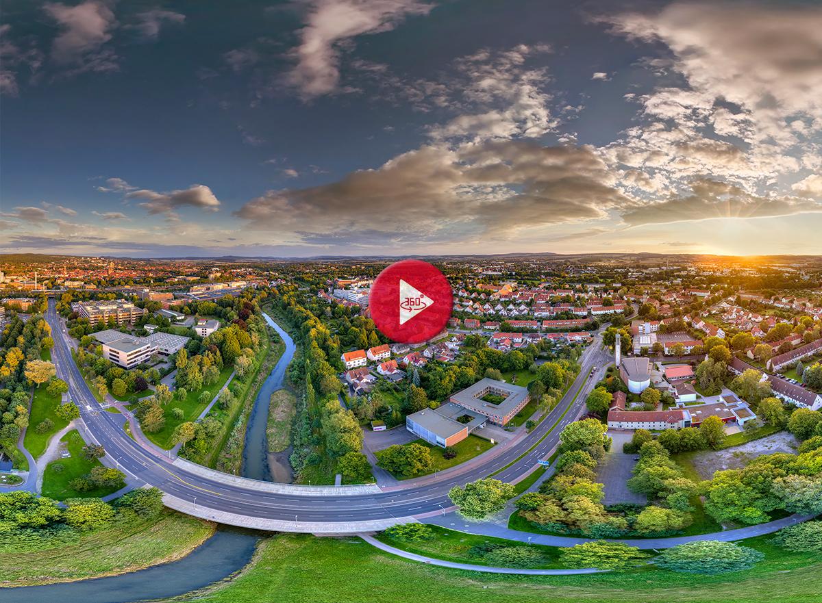 360 Grad Luftpanorama Foto Luftbild Göttingen