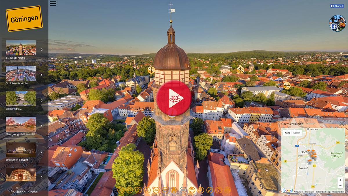 360 Grad Panorama Stadtrundgang Göttingen