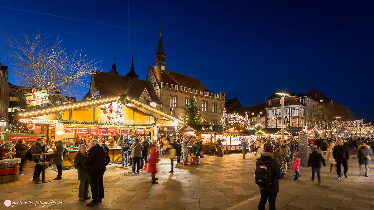 Weihnachtsmarkt Göttingen.Bildschönes Göttingen