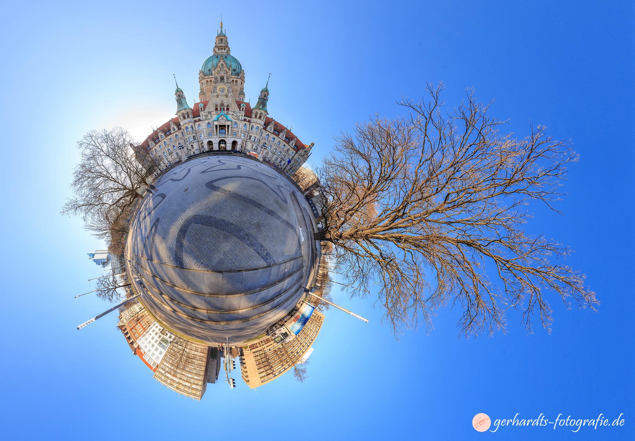 360 Grad Panoramafoto Neues Rathaus Hannover Trammplatz | Fotograf Hannover