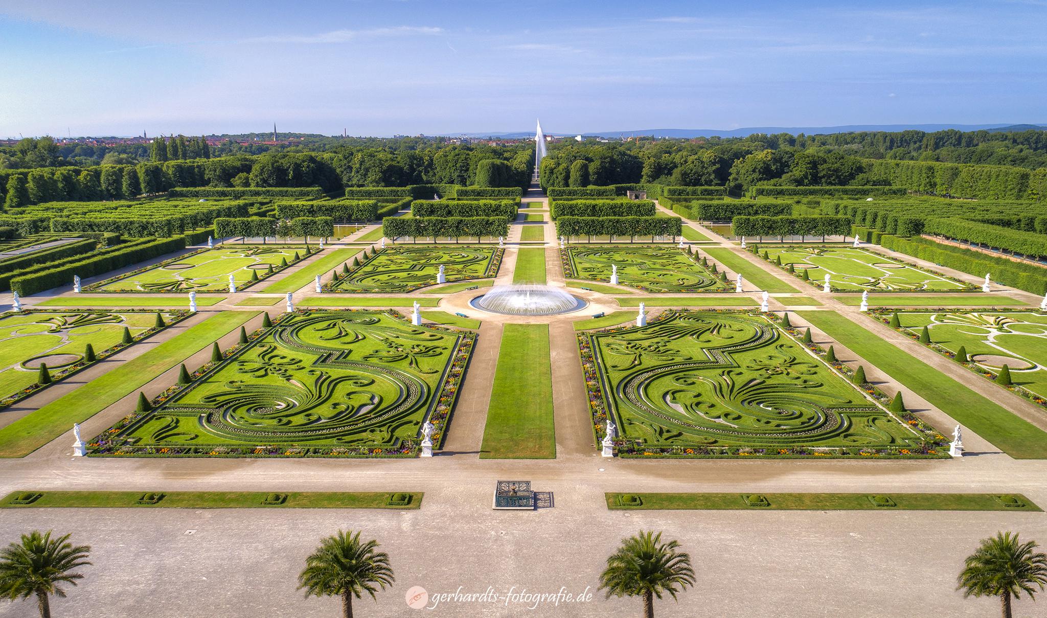 Luftbild Herrenhäuser Gärten Hannover