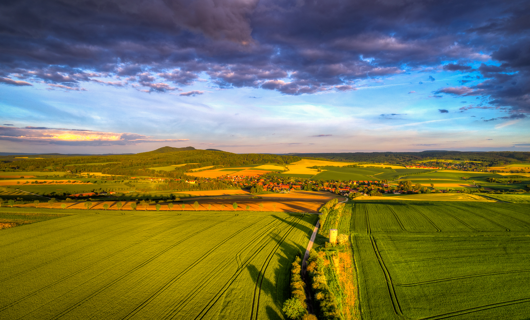 Luftbild Diemardener Warte Göttingen | Luftbildaufnahmen Göttingen Südniedersachsen