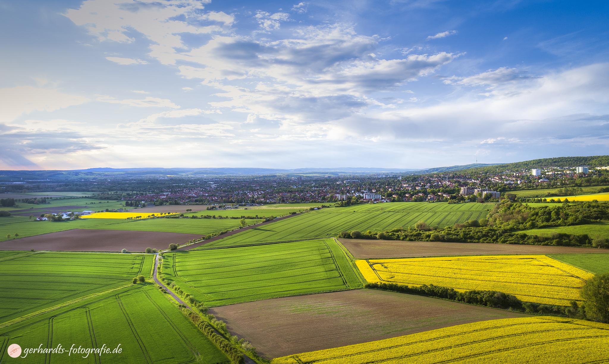 Luftbild Göttingen zur Rapsblüte | Luftbildaufnahmen Göttingen Südniedersachsen