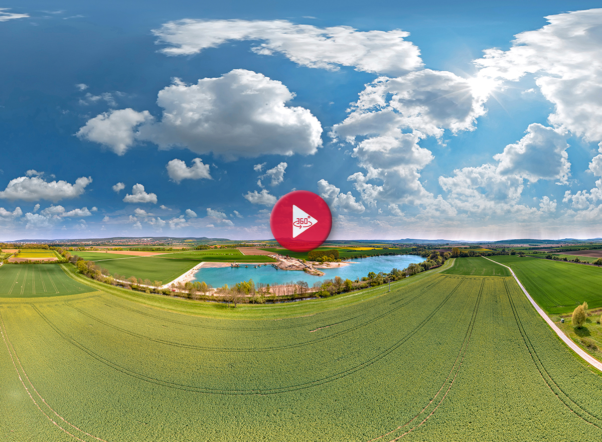 360 Grad Luftpanorama Foto Luftbild Rosdorfer Baggersee