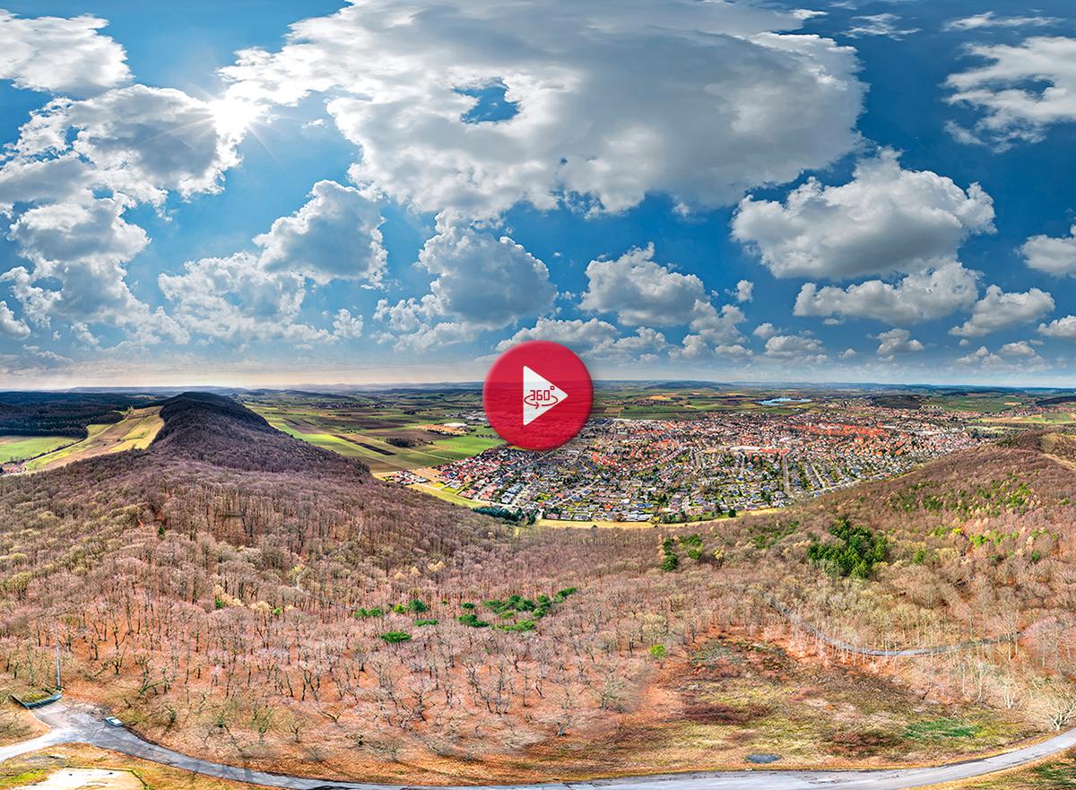 360 Grad Luftpanorama Foto Luftbild Wieterturm Northeim
