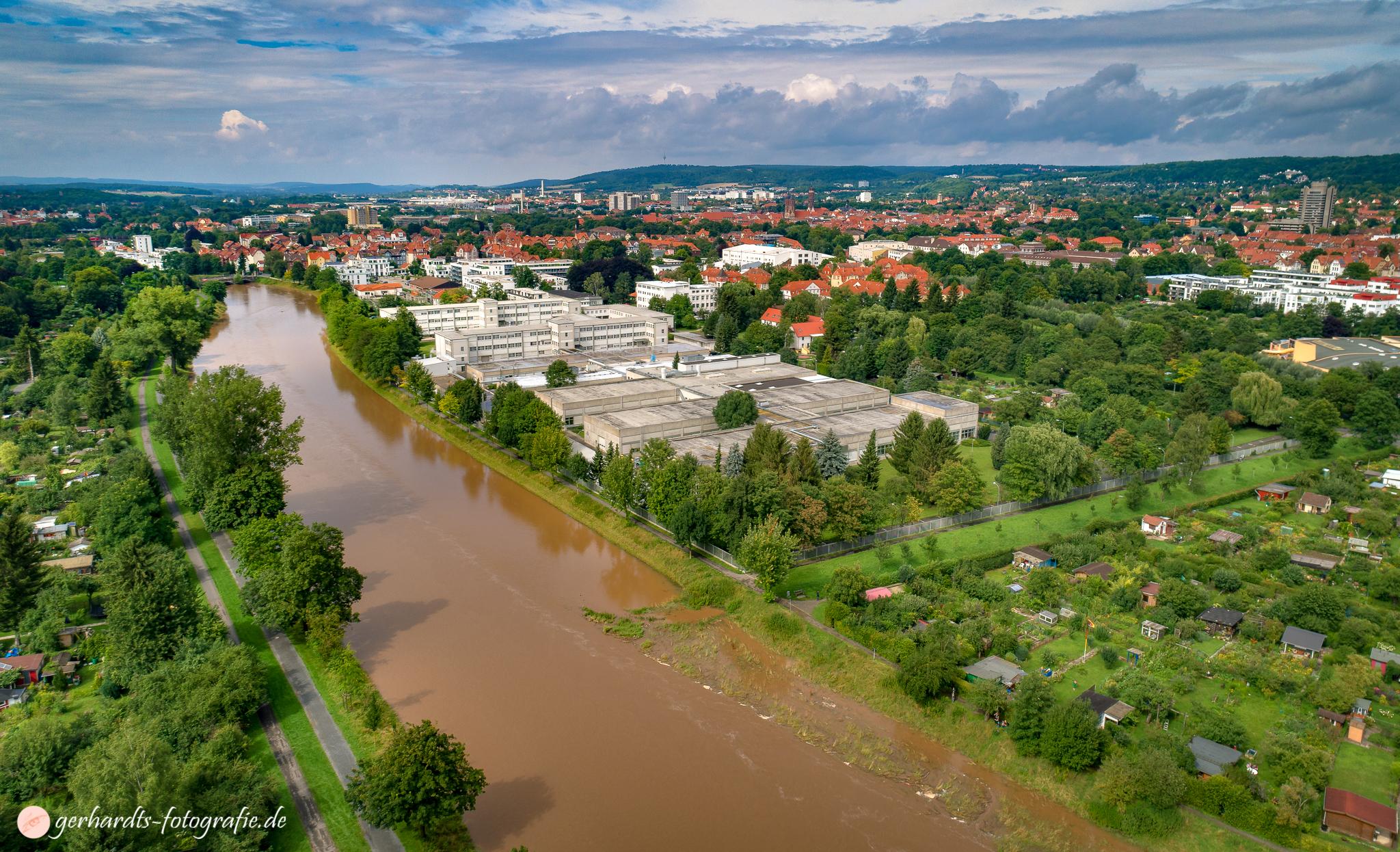 Luftbild Hochwasser 2017 Göttingen Niedersachsen