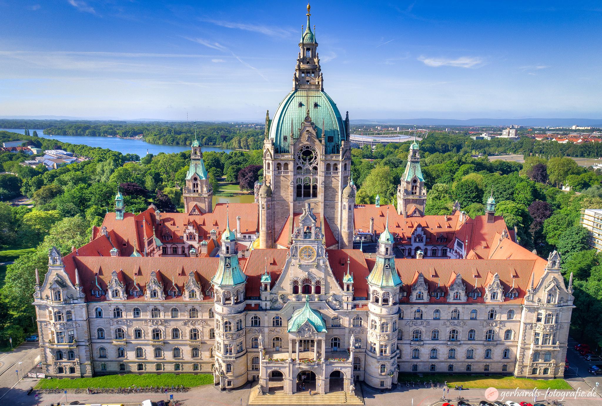 Luftbild Neues Rathaus Hannover