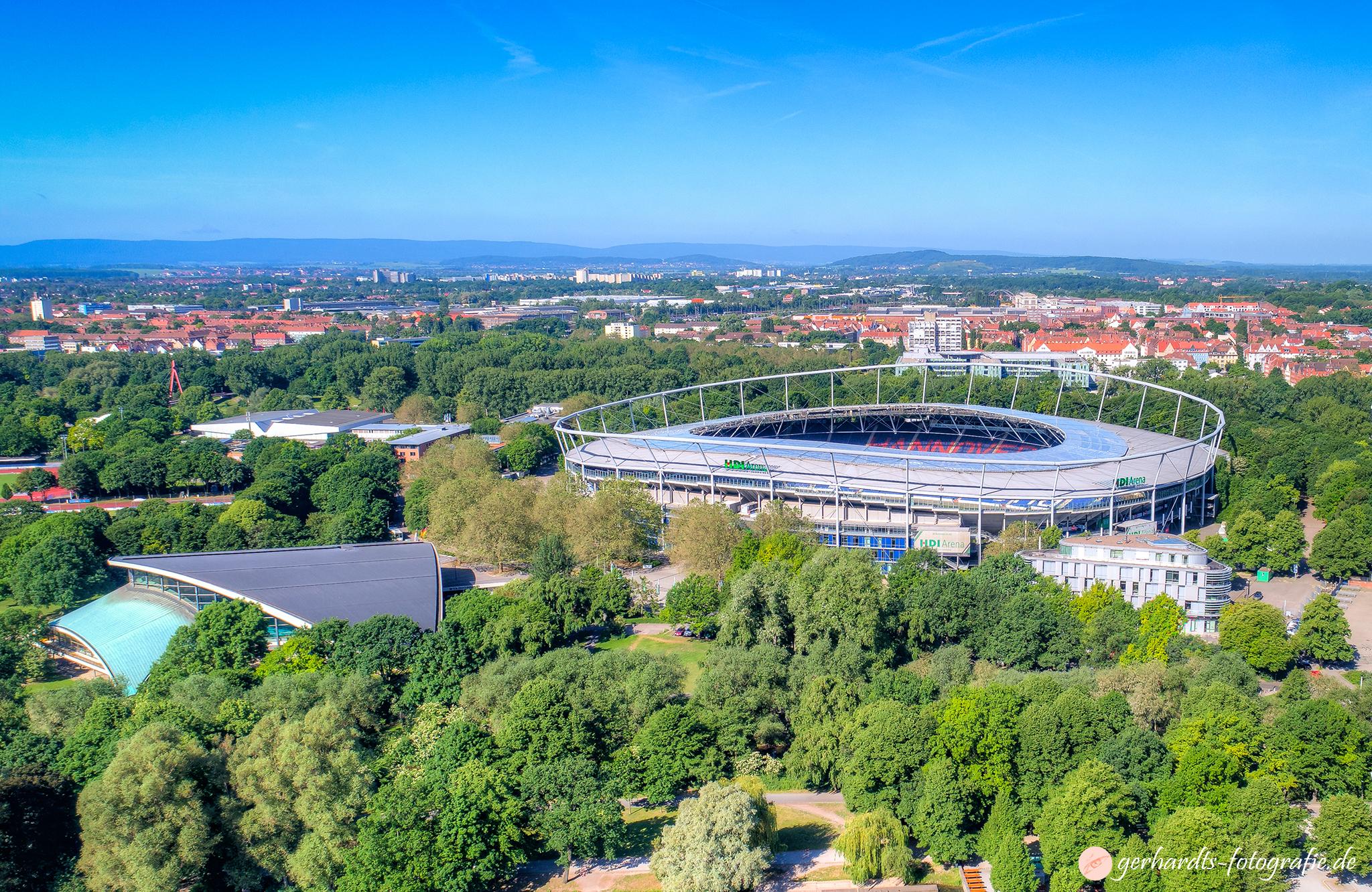 Luftbild HDI Arena Hannover