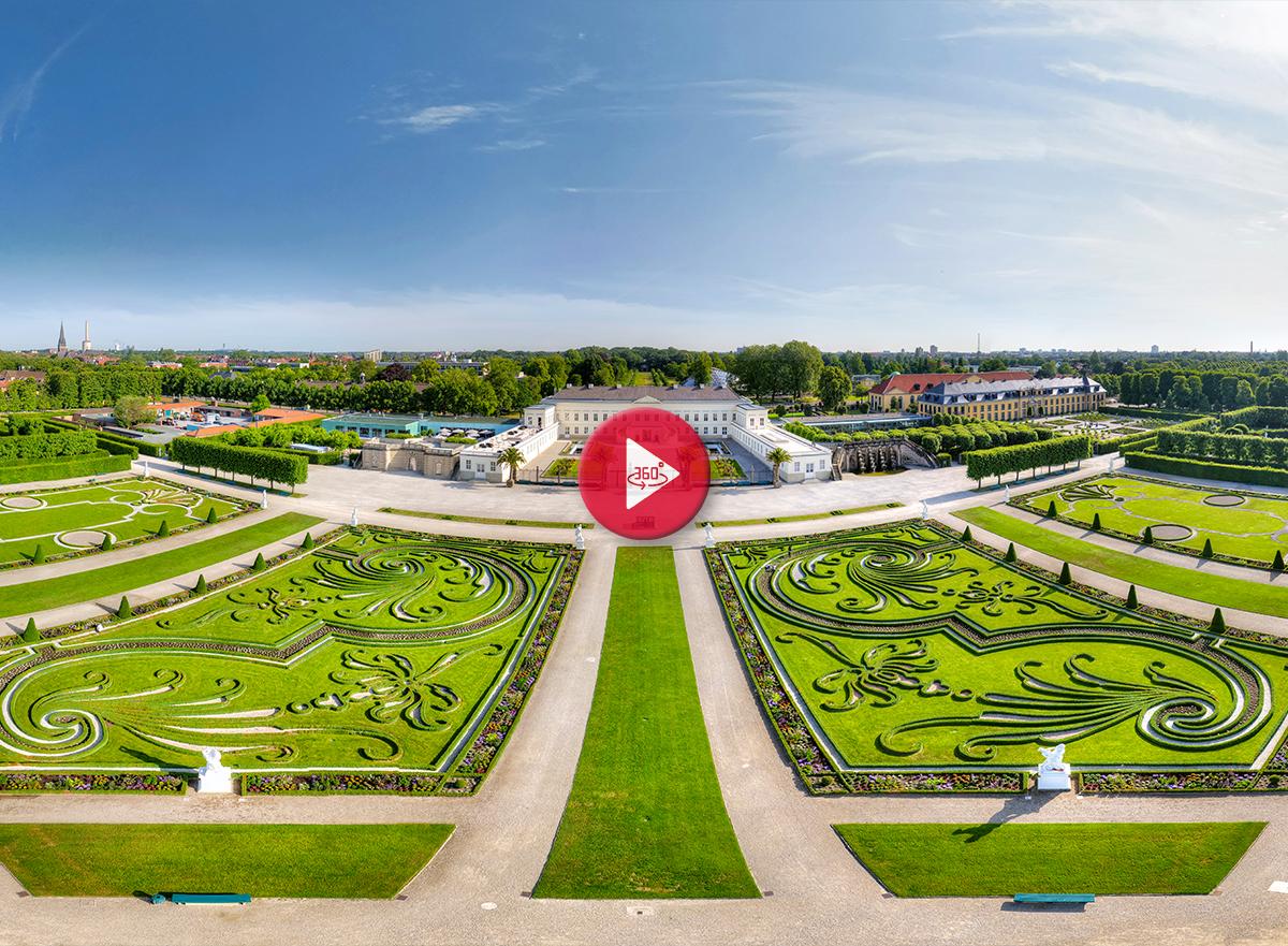 360 Grad Panorama Foto Tour Herrenhäuser Gärten Hannover