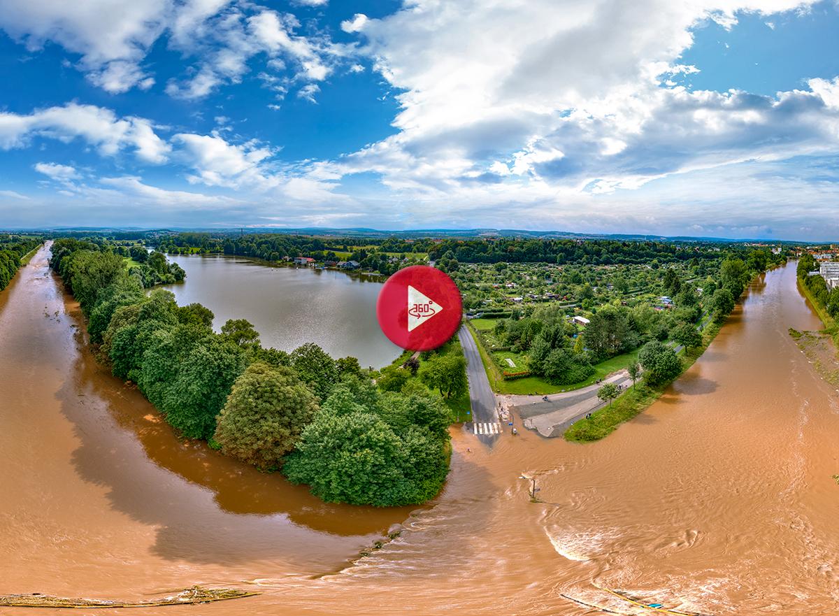Hochwasser 2017 360 Grad Panorama Foto