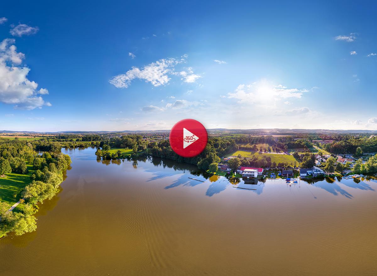 360 Grad Luftpanorama Foto Luftbild Göttingen Kiessee