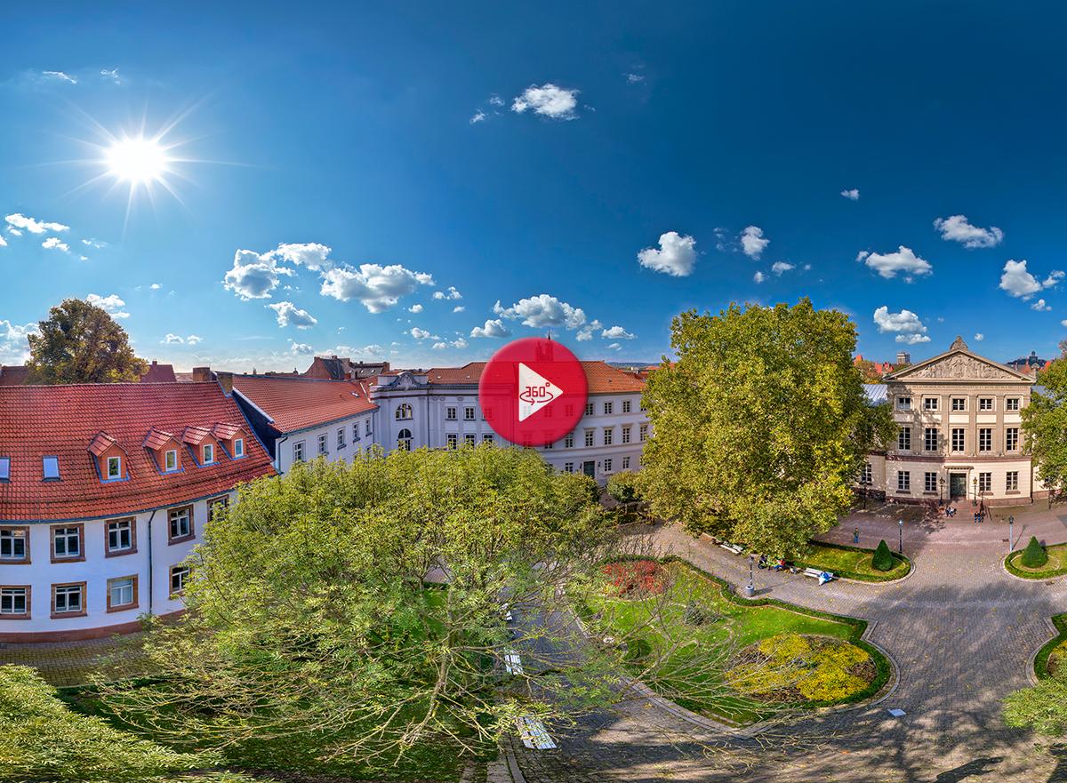 360 Grad Luftpanorama Foto Luftbild Wilhelmsplatz Göttingen