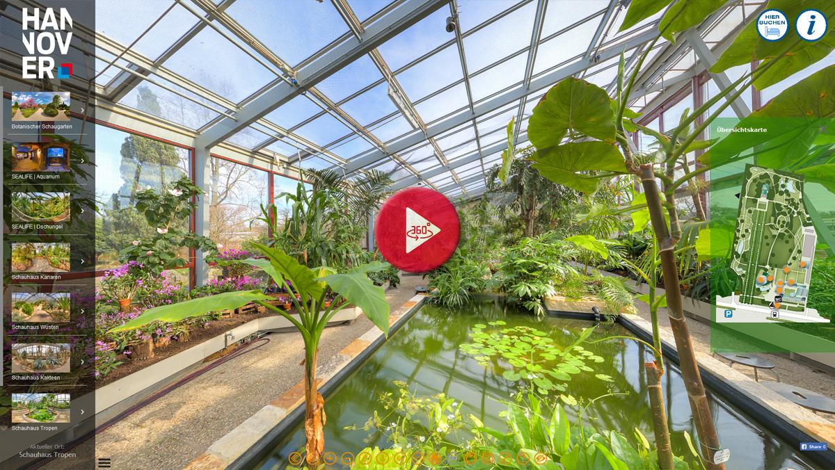 360 Grad Panorama Tour Herrenhäuser Gärten Hannover | Berggarten