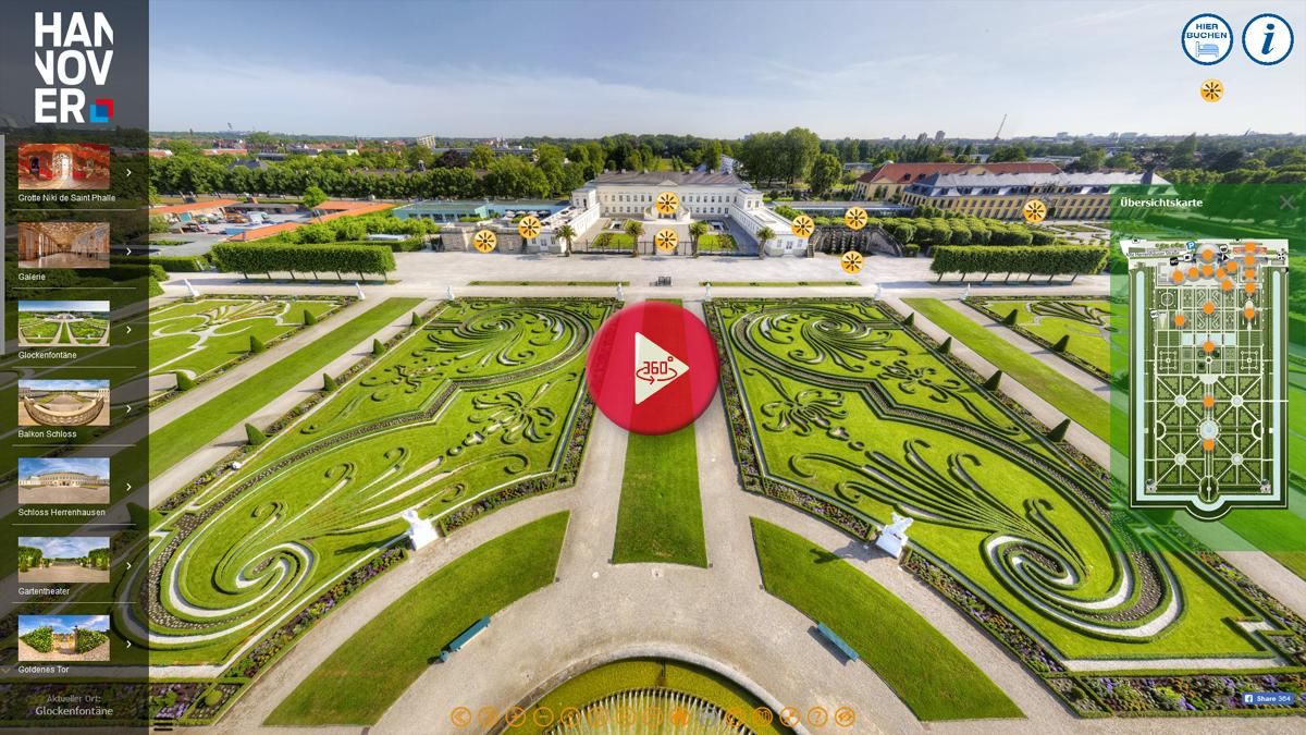 360 Grad Panorama Tour Herrenhäsuer Gärten Hannover