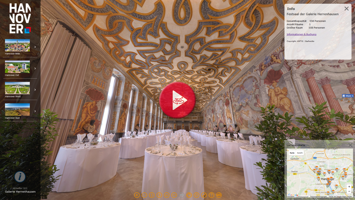 360 Grad Panorama Tour Tagungslocations Hannover