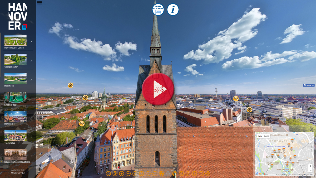 360 Grad Panorama Stadtrundgang Hannover