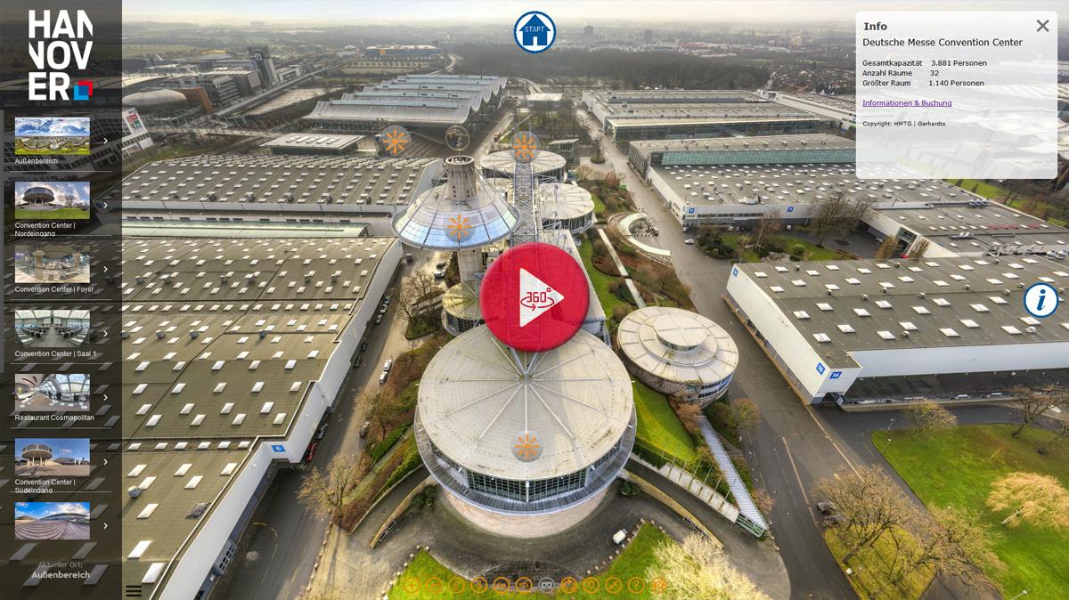 360 Grad Panorama Rundgang Messegelände Hannover