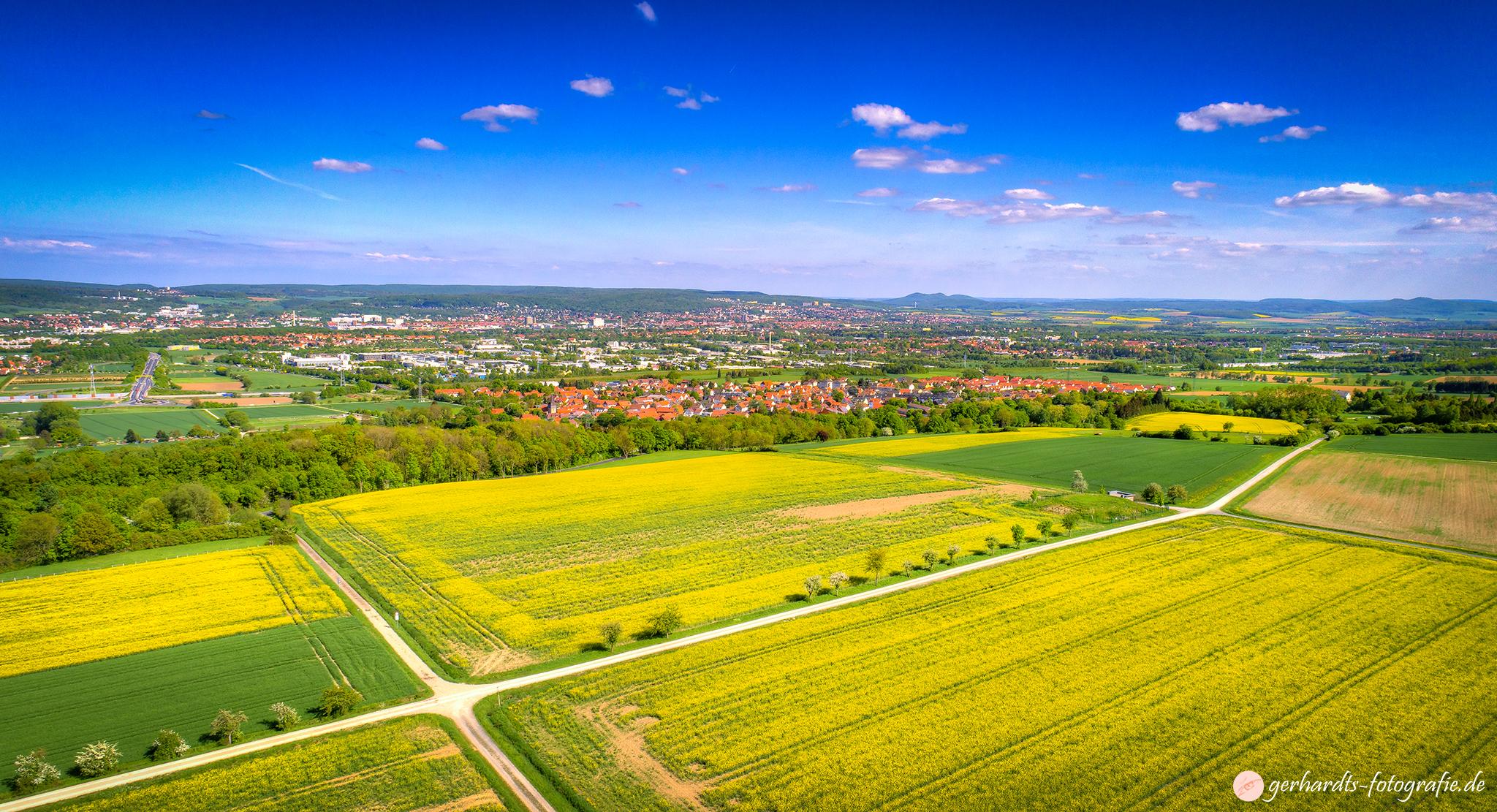Luftbild Göttingen Rapsblüte