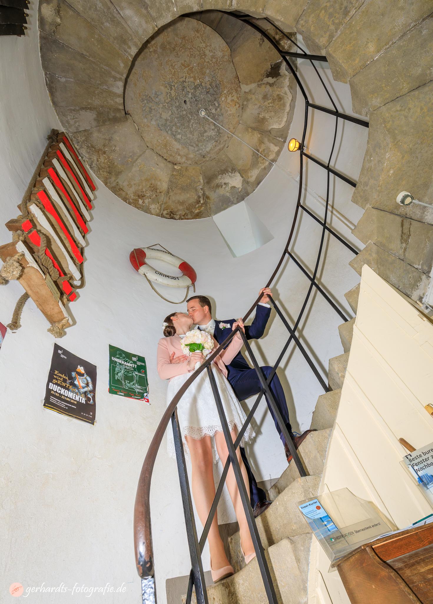 Die Stufen zum Glück im Alten Leuchtturm Wangerooge - Hochzeitsfotograf Wangerooge