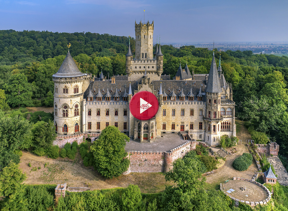 Schloss Marienburg Hannover 360 Grad Luftbild - Luftbildfotografie Göttingen