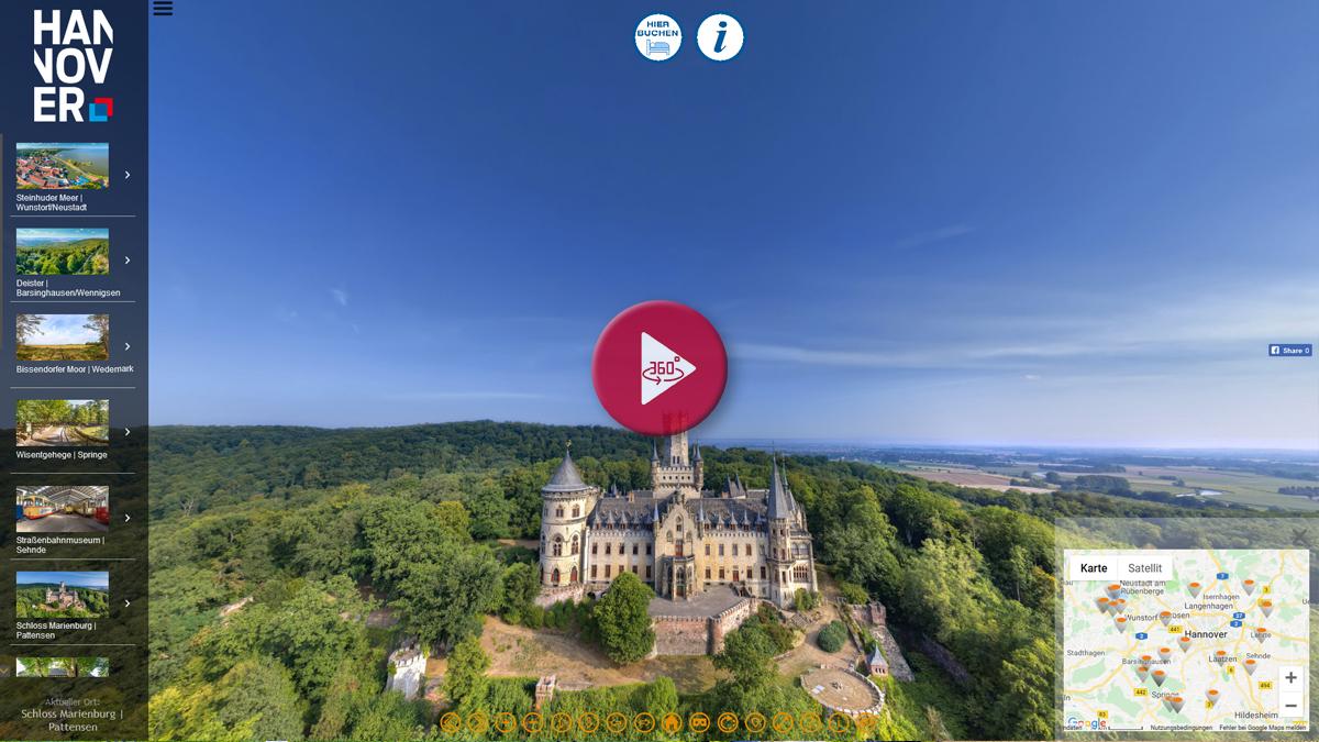 360 Grad Panorama Rundgang Region Hannover