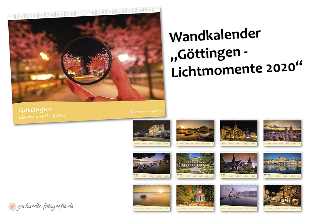 Wandkalender Göttingen 2020