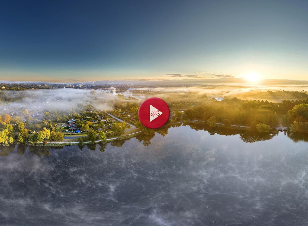 360 Grad Panoramabild Göttingen Kiessee im Herbst