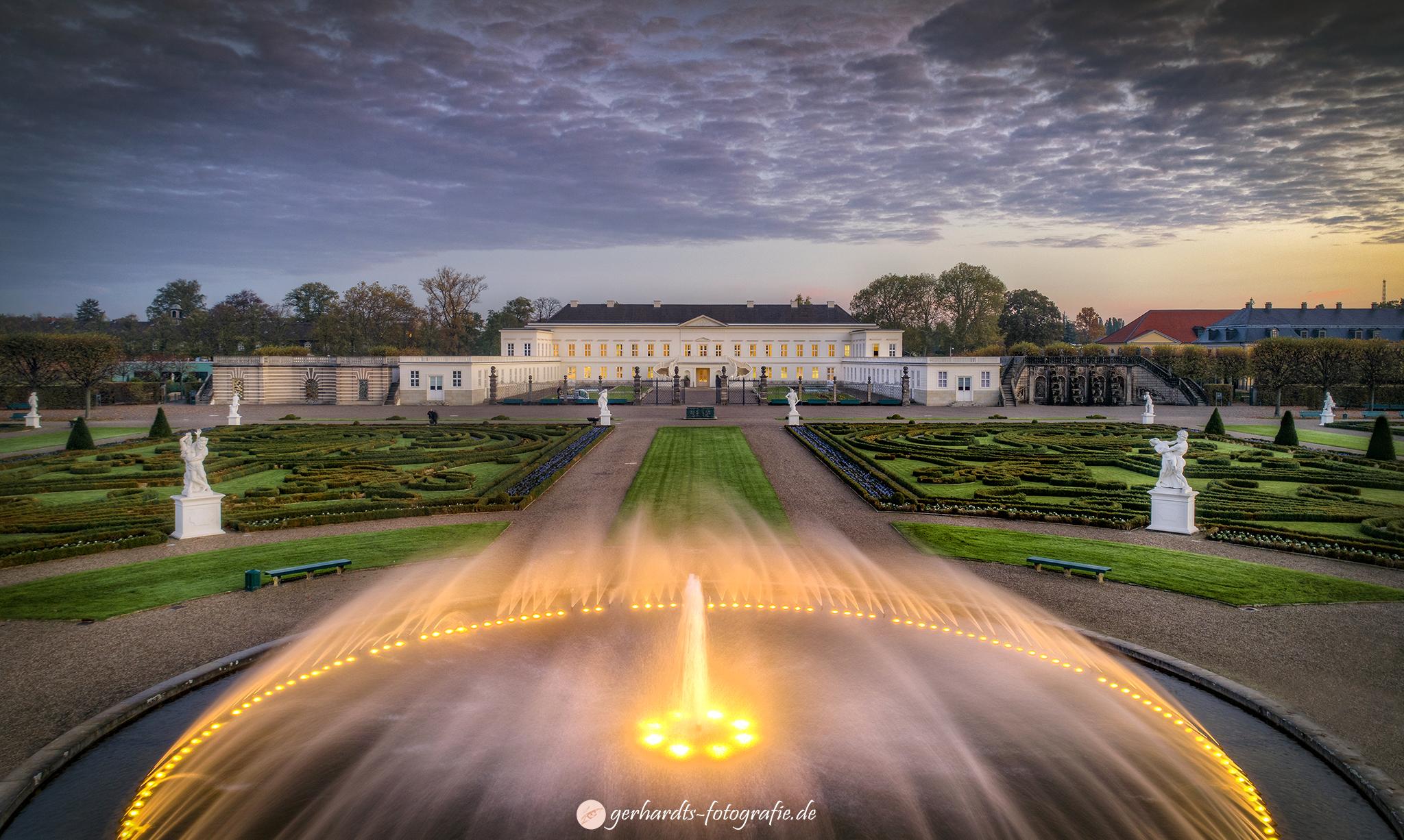 Luftaufnahme Herrenhäuser Gärten Hannover, Luftbilder Niedersachsen