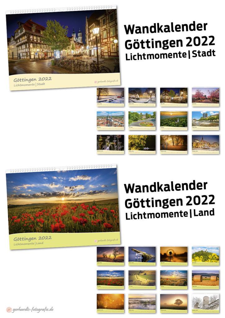 Kalender Göttingen 2022 Lichtmomente Stadt Land Umland